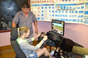 Занятия на тренажере обучения первоначальным навыкам вождения ФОРВАРД, мастер - Горянкин Александр Александрович