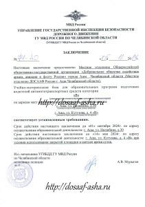 Официальное заключение ГИБДД